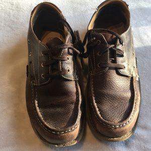 Dr martins men's size 10 brown slip on shoe.